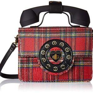 Betsey Johnson Answer Me Phone Bag  NWT